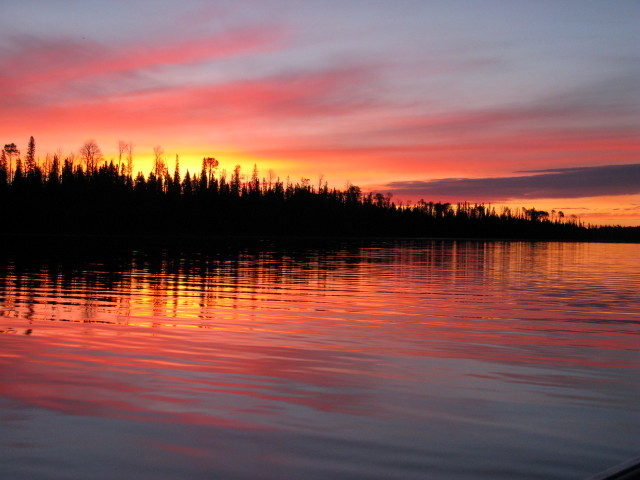 Sunrise and sunset gallery from Klotz Lake Camp